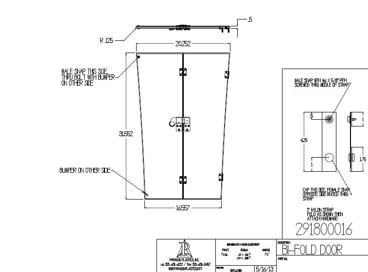 Acrylic Bi Fold Door